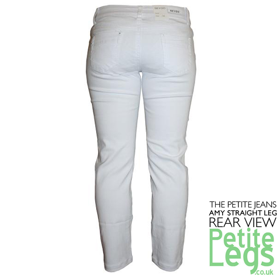Amy White Slim Straight Leg Jeans UK Size 14 Petite Inseam Select ...